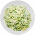 Салат из огурцов с яйцом и луком